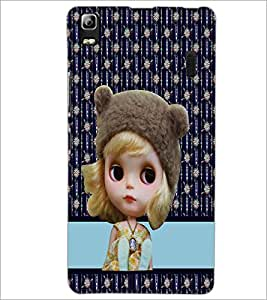 PrintDhaba Cute Doll D-3783 Back Case Cover for LENOVO A7000 PLUS (Multi-Coloured)