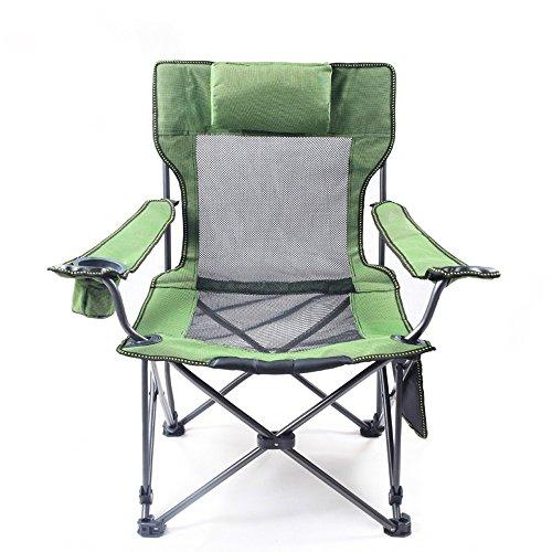 LXYFMS Draußen sitzen doppelklappstuhl fischenstuhl verstellbare Liege tragbarer strandstuhl mittagspause Stuhl Klappstuhl (Color : Green)