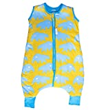 Emma & Noah Baby Schlafsack, ganzjährig geeignet, 15-21°C (2,5 Tog), 100% Baumwolle, 12 bis 18 Monate, Größe: 80 cm, Motiv: Eisbär, Babyschlafsack, Ganzjahresschlafsack