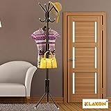 Klaxon Wrought Iron Coat Rack Hanger - Wrought Iron Racks Standing Coat Rack