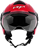 Vega Verve Open Face Helmet (Women's, Red, M)