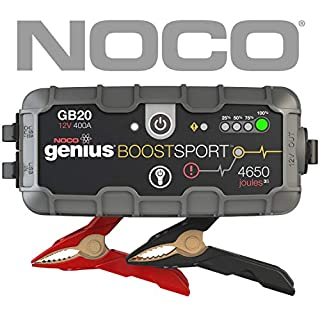 NOCO GB20 Genius Boost Sport UltraSafe Lithium Jump Starter, 400 Amp 12V