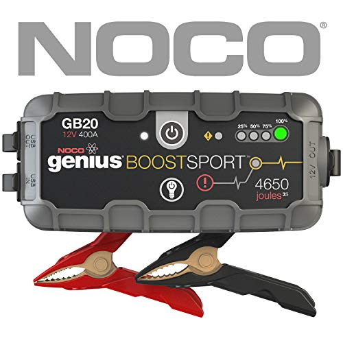 Avviatore d'emergenza automatico con batteria al litio, estremamente sicuro, da 400 amp noco genius boost sport gb20