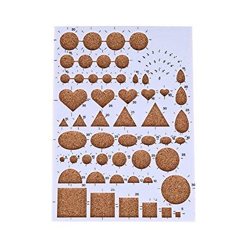 espeedy Papier Quilling DIY, papier quilling Pochoir Planche de moules Outils Art Bricolage artesanías livre de souvenirs d'outils, blanc