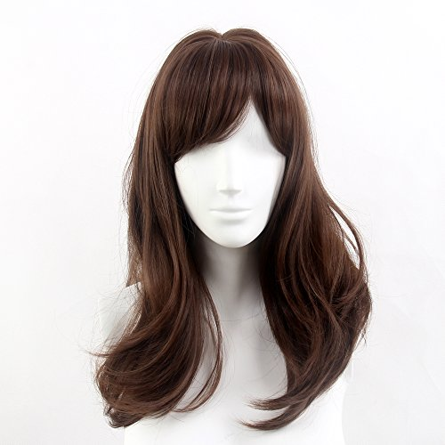 stfantasy Perücken für Frauen lange natur Wave hitzebeständiges Synthetikhaar 45,7 cm 200 g mit Bongs Wig peluca frei Hair Net + Clips, (Socks Fox In Kostüm)