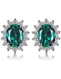 jewelrypalace Kate Middleton 's Princess Diana Kunstsaphir Ruby Nano Smaragd Alexandrit Saphir Ohrstecker 925Sterling Silber