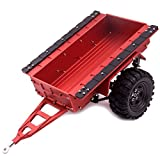 ZuoLan 1 Stück Rot 1/10 Aluminium Blattfeder Hitch Berg Anhänger mit Rad for RC Crawler SCX10 CC01 F350 HILUX 90034 RC4WD D90