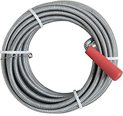 Espiral de limpieza de tuber/ías de 3 m y 10 m con punta de taladrado para desag/üe y sif/ón