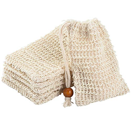 Home Improvement Special Section Hot 6 Pcs Natural Exfoliating Soap Bags Handmade Sisal Soap Bags Natural Sisal Soap Saver Pouch Holder Bath Soap Holder Bags Big Clearance Sale