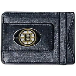 NHL Boston Bruins Genuine Leather Cash and Cardholder