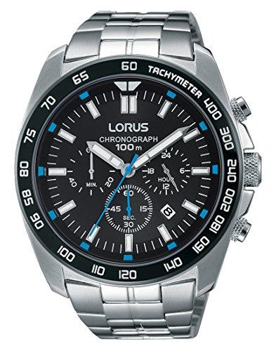 Relojes Lorus hombre-reloj analógico de cuarzo de acero inoxidable tamaño XL RT321EX9