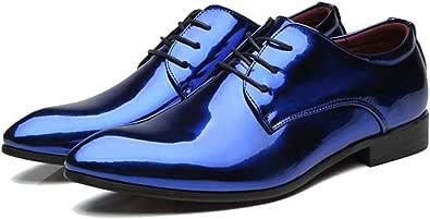 Scarpe Eleganti da Uomo in Pelle con Punta a Punta Antiscivolo Oxfords Business Casual Wedding Party Shoe