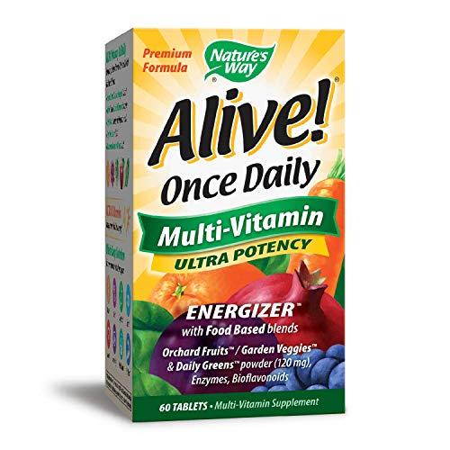 Nature's Way, Alive!, Einmal täglich, Multi-Vitamin, 60 Tabletten - Tabletten Natures Way