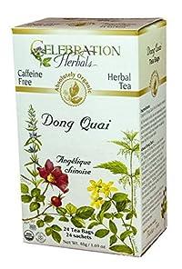 Celebration Herbals Organic Dong Quai Tea Caffeine Free -- 24 Herbal Tea Bags