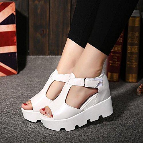 Peixe Mulheres Sapatos De Irmandade Sandálias Salto Brancas Alto De Fundo Plano Cabeça wg17U7