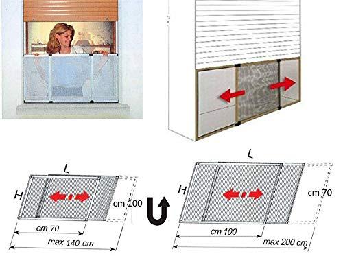 Telaio zanzariera dasko per persiane tapparelle cm 70x100 allungabile reversibile