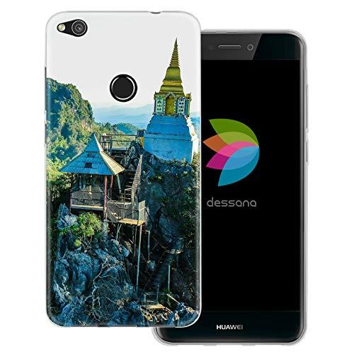dessana Orient transparente Schutzhülle Handy Case Cover Tasche für Huawei P8 Lite (2017) Buddhismus