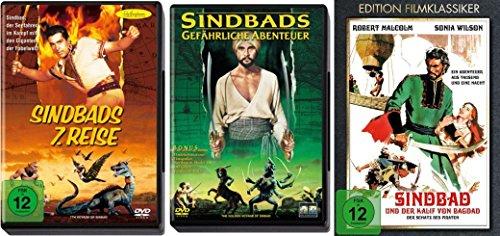 SINDBAD Klassiker Collection : SINDBADS 7. REISE + GEFÄHRLICHE ABENTEUER + DER KALIF VON BAGDAD 3 DVD Edition