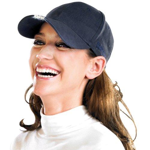 Preisvergleich Produktbild PEARL LED Cap: LED-Schirmmütze mit 5 Highpower-LEDs (Mütze mit LED Licht)