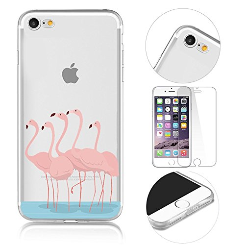iPhone 7 Transparente Case Cover,MingKun Ultra MinceTransparente Soft TPU Silicone Clair Transparente Case iPhone 7 4.7 pouces Cover pour iPhone 7 4.7 pouces Clair Étui Housse Ananas Peinture Série Pr Picture-1