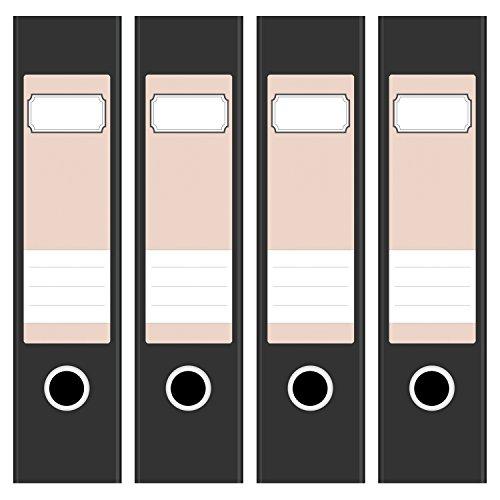 4 x farbige Akten-Ordner Etiketten/Aufkleber/Rücken Sticker/Farbe Helles Rosa/für breite Ordner/selbstklebend/6cm breit