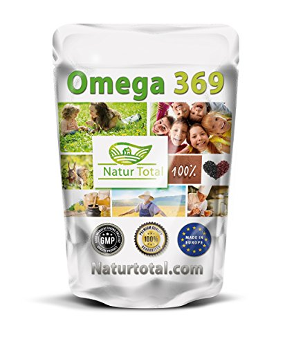 Naturtotal OMEGA 3+6+9 KAPSELN á 1000mg Hochdosiert 900 Stück Megapack
