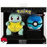 Pokemon Plüschtier / Kuscheltier / Plüschfigur Schiggy / Squirtle / Carapuce mit Tauchball im Showkarton