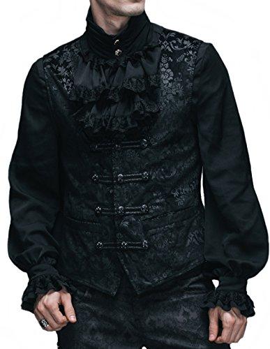 Männer Kostüme Burlesque (Devil Fashion festliche Weste Jacket BURLESQUE Barock Gothic Cord)