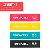 Proworks Resistance Bands | Set of 4 Heavy Duty Fitness and Exercise Loop Bands for Strength Training, Yoga, Pilates, Gym or Rehabilitation