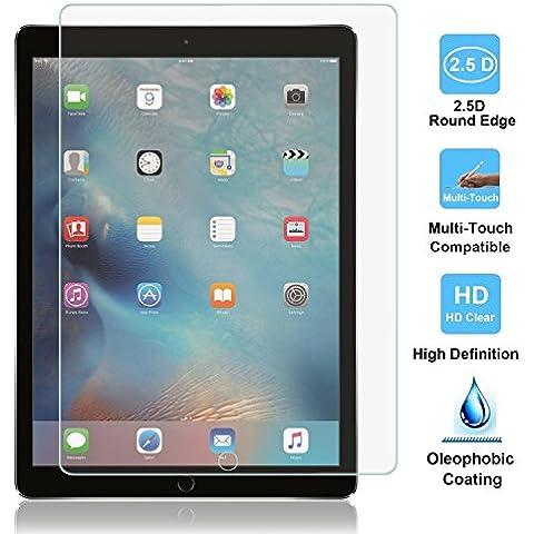 iPad Air/iPad Air 2, protector de pantalla, protector de pantalla de cristal templado para iPad Air 1/2, 0,33mm, 2.5d Round Edge, Ultra Clear,