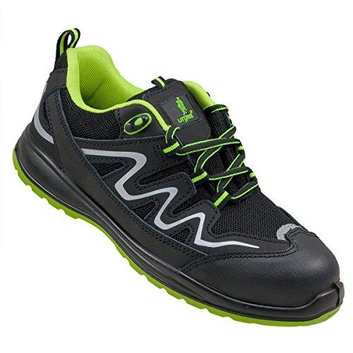 Arbeitsschuhe URGENT Modell 224 S1 Sicherheitsschuhe Stiefel EN ISO 20345 (Gr. 39-47) (47) (Arbeiten Schuhe Alle Männer Schwarz)