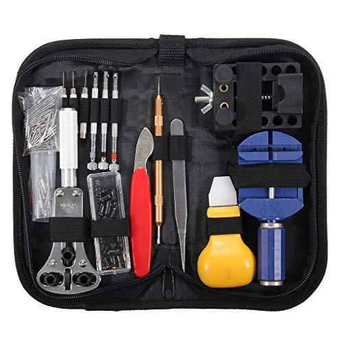 fish 146Pcs Profi-Uhr-Reparatur-Schraubendreher-Set Caliper Lünette Zange Connectivity Kit Ersatz Werkzeuge