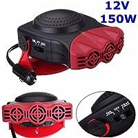 Sundlight - Calefactor de cerámica de 150 W y 12 V para coche con función calefacción y refrigeración, 17 x 14 x 4 cm