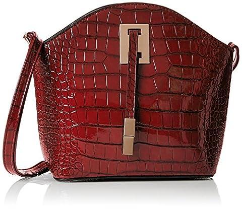 SwankySwans Alex Croc Patent Leather Shoulder Bag