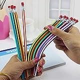 FEIDAjdzf Lot de 6 Crayons Flexibles Souples et Souples avec Gomme colorée pour étudiant, école