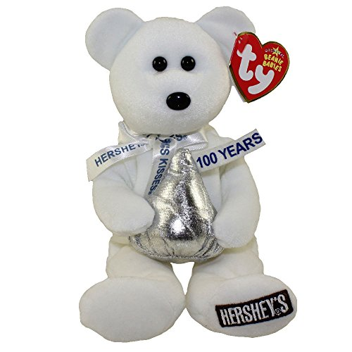 ty-beanie-babies-hugsy-hershey-kisses-white-bear-toy