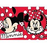 Disney - Manoplas infantiles para baño, 2 unidades, 30 x 30 cm, diseño de Minnie Mouse