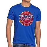 style3 Mithrandir´s Smoking Lounge Camiseta para hombre T-Shirt, talla:M;Color:Azul