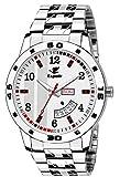 Espoir Analog Stainless Steel Day and Date White Dial Men's Watch - SamWhiteBrock