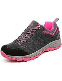 Zapatos de deporte y aire libre para montaña, calzados de cuero antideslizantes cómodos para mujer A92628
