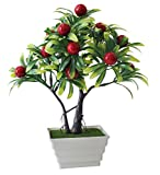 #8: Tied Ribbons Artficial Bonsai Fruit Plants/For Home Decoration