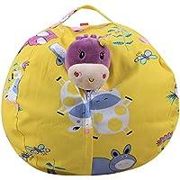 Preisvergleich für Kinder Plüsch Spielzeug Aufbewahrungstasche Hause Speicher Sitzsack Große Kapazität Gelb Cartoon Multi-Size-Aufbewahrungstasche,18In