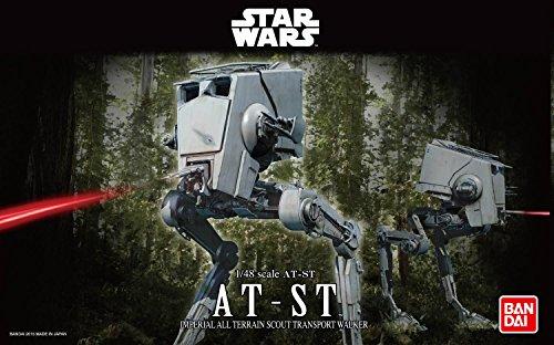 Revell Bandai 01202 Disney Star Wars at-ST originalgetreuer Modellbausatz für Experten, Mehrfarbig, 1/48 - Wars-at-spielzeug Star