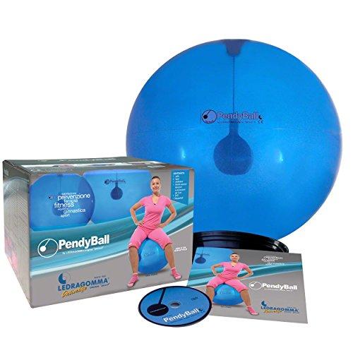 Preisvergleich Produktbild PendyBall by Ledragomma original 'pezzi' / blau-transp. Gymnastikball / Pendel (2 kg) im Inneren Ø 55 cm / Trainingsgerät Reha Rumpfmuskeln