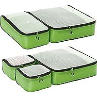 eBags Ultralight Packing Cubes - Super Packer 5pc Set (Green)