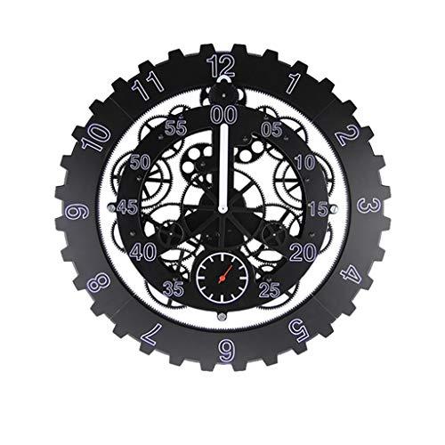Nosterappou Orologio da parete creativo moda personalità creativa, orologio da parete meccanico silenzioso orologio da parete creativo orologio da parete, camera da letto, hotel retro orologio meccani