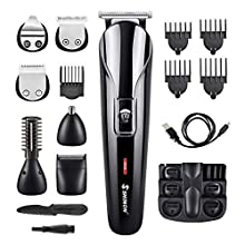 DEKINMAX Hair Clippers Beard Trimmer for Men 11 in 1 Cordless Mustache Body Trimmer Hair Trimmer Groomer Kit Precision Trimmer Nose Hair Trimmer Rechargeable