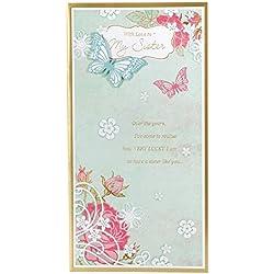 """Hallmark Geburtstagskarte für Schwester""""Immer da sein, für jede andere–Medium Slim"""