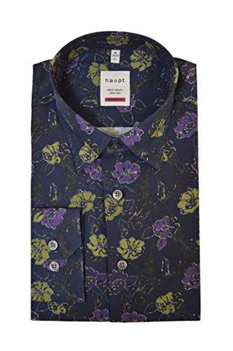 Haupt Herren Modern Fit Baumwoll-Hemd (Medium, Floral)