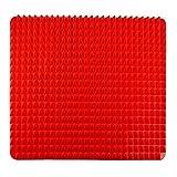 DIVISTAR Vorfußmatte aus Silikon, antihaftbeschichtet, Rot